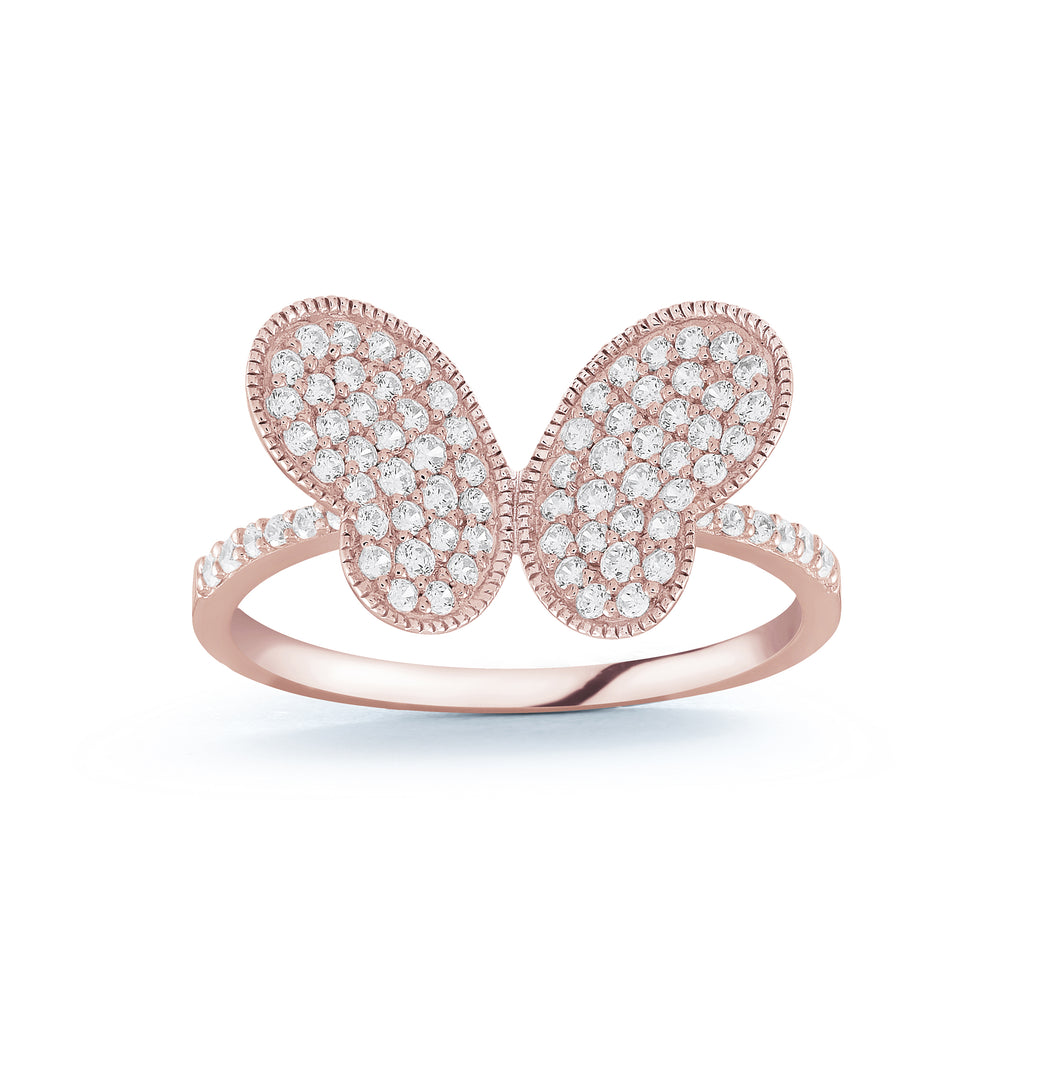 925 Sterling Silver Butterfly ring Miss Mimi 02-142643