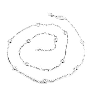 "925 Sterling Silver DBY Necklace 16""-18"" Miss Mimis 04-142689-01"