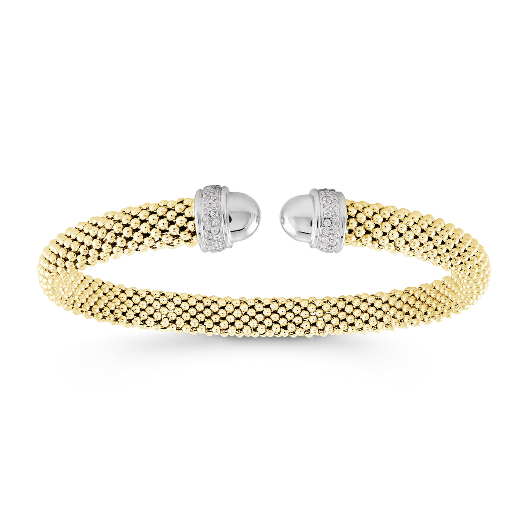 925 Sterling Silver Our iconic timeless bead mesh bangle 07-083279-01