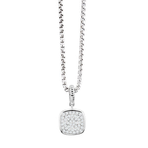 925 Sterling Silver Micro pave, cubic zirconia look like diamond Pendant Miss Mimi 09-021345