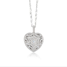 Load image into Gallery viewer, 925 Sterling Silver Heart shape intricate locket Necklace Miss Mimi 09-72290