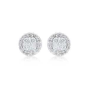 925 Sterling Silver Essential timeless round Stud Earrings 13-021879-01