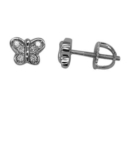 925 Sterling Silver Little Butterfly Stud Earrings Miss Mimi 13-142819-01