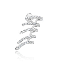 Load image into Gallery viewer, 925 Sterling Silver 5 row ear cuff Earrings Miss Mimi 13-142902-01