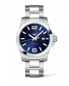 LONGINES CONQUEST 43MM BLUE DIAL STAINLESS STEEL L37604966