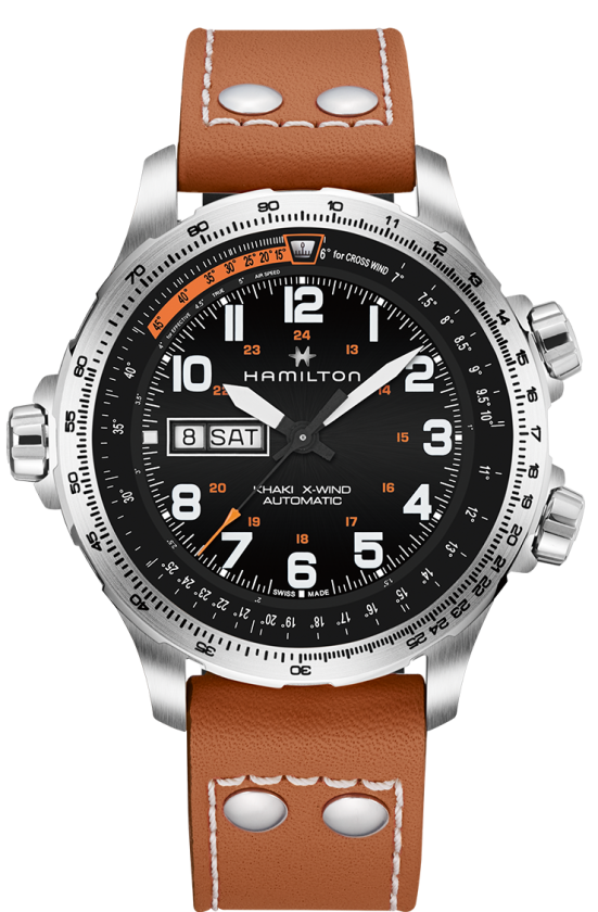 Hamilton: KHAKI AVIATION X-WIND DAY DATE AUTO H77755533