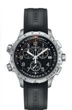 Load image into Gallery viewer, Hamilton:KHAKI AVIATION X-WIND GMT CHRONO QUARTZ H77912335