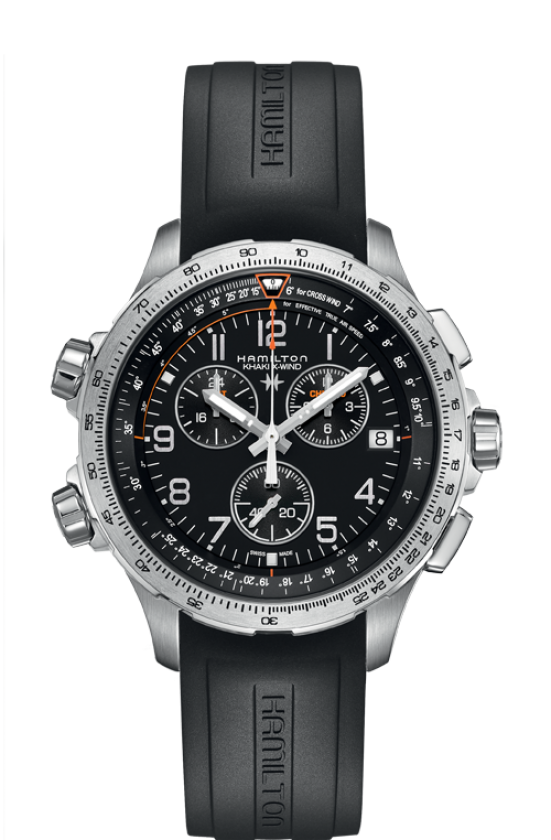 Hamilton:KHAKI AVIATION X-WIND GMT CHRONO QUARTZ H77912335