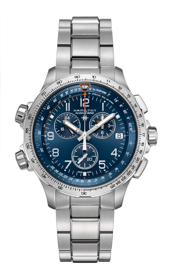 HAMILTON KHAKI AVIATION X-WIND GMT CHRONO QUARTZ H77922141