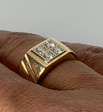 Load image into Gallery viewer, 18K YELLOW GOLD MEN'S DIAMOND RING