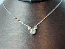Load image into Gallery viewer, 18K WHITE GOLD DIAMOND NECKLACE