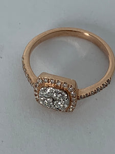 10K ROSE GOLD FANCY DIAMOND