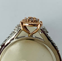 Load image into Gallery viewer, 10K TWO TONE FANCY DESIGN DIAMOND RING