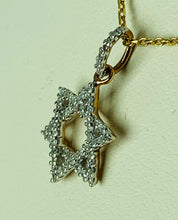 Load image into Gallery viewer, 10K ROSE GOLD DIAMOND PENDANT (STAR OF DAVID)