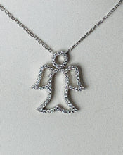 Load image into Gallery viewer, 18K WHITE GOLD DIAMOND ANGEL NECKLACE