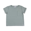 Powder Blue Ribbed Box Tee
