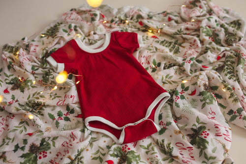 Two Darlings Saint Nick Ribbed Bodysuit