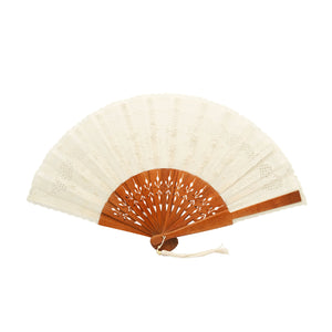 Jusi Petite Fan with Brown Handle