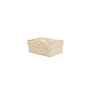 Capiz Rectangle Jewelry Box Leaves with Abaca Stem