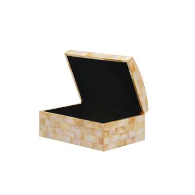 Golden Mother of Pearl Jewelry Box - TESOROS