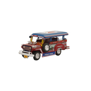 Promite Jeepney with Flag - Red/Blue