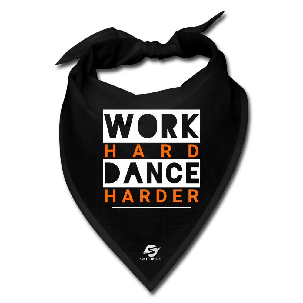 Work Hard Dance Harder Bandana - black