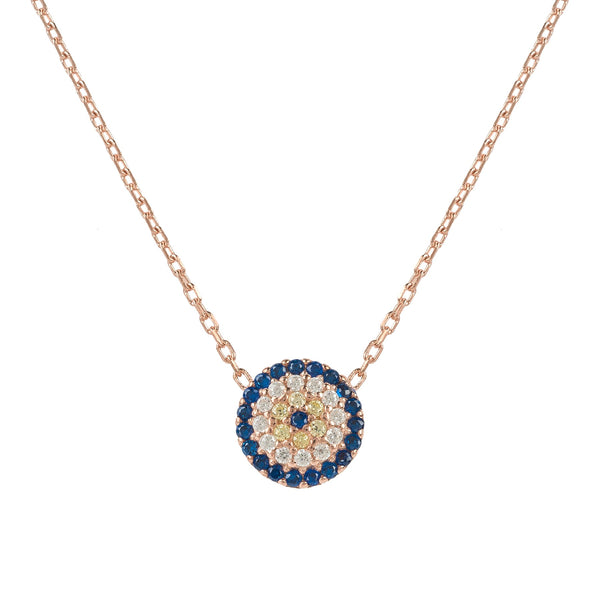 Evil Eye Necklace Rosegold
