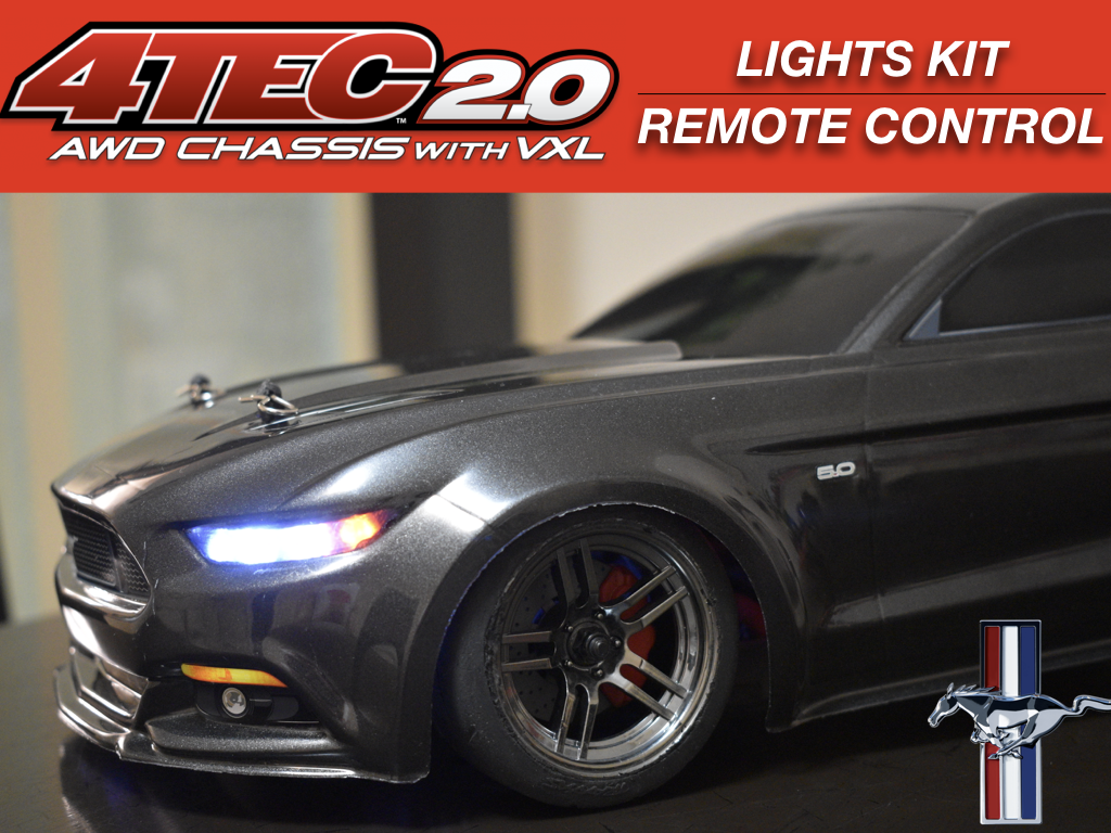 LED Lights Kit For Mustang Traxxas Taillights headlights by Polo Creations Rc