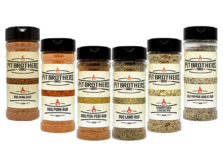 We've created a premium range of meat rubs to suit your ingredients & compliment your style of barbequing. But if you can't decide which barbecue rub to buy or you like to grill a whole range of different foods, then our sampler pack is the perfect solution. Containing 6 of our most popular full sized BBQ rubs – the New Blend BBQ Rosemary Lemon and Sea Salt Rub, Salt Pepper Garlic Rub, BBQ Lamb Rub, BBQ Peri Peri Rub, BBQ Pork Rub & BBQ Wing Dust – you'll have all of your BBQ needs covered in style.