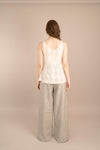 The Quartz Sleeveless Sheer Top