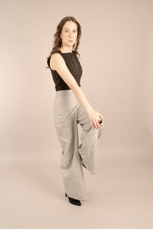 The Graphite Sleeveless Crop Top