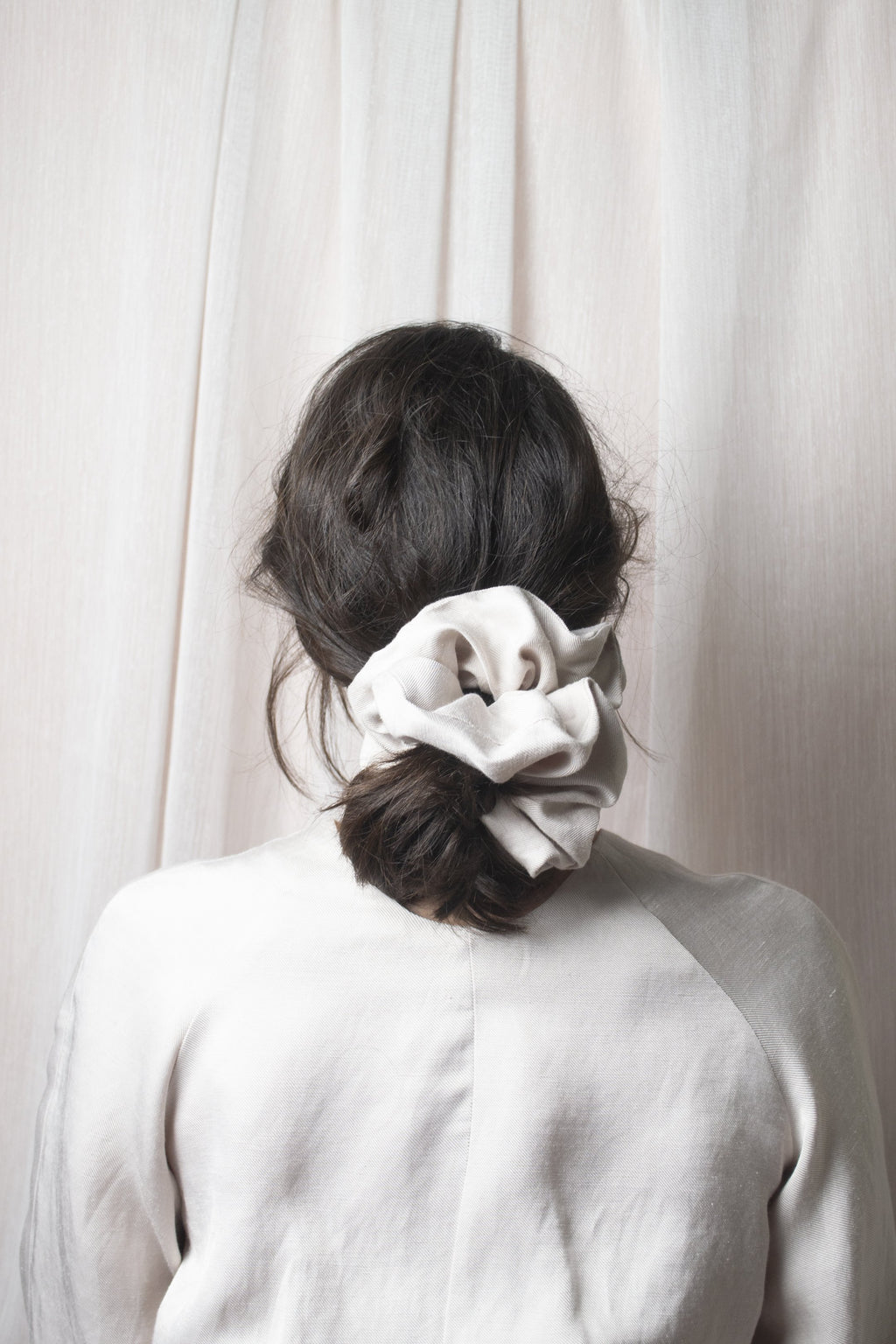 Mega Scrunchie - Structured Viscose Nude