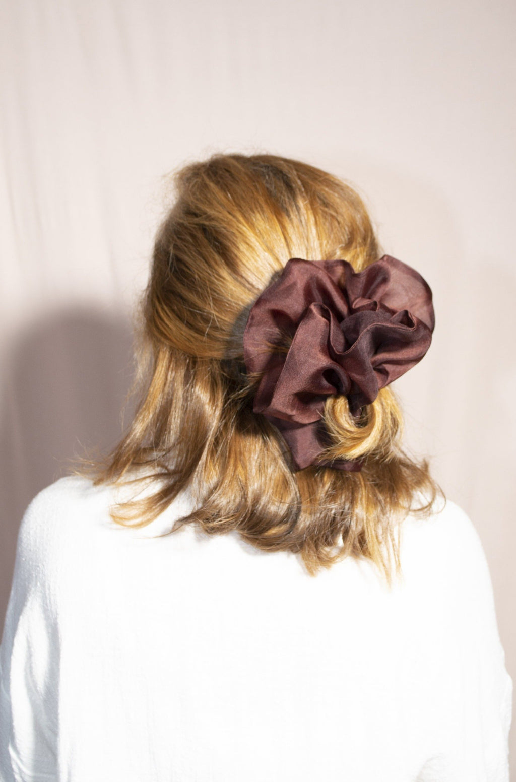 Mega Scrunchie - Structured Organza Chocolate