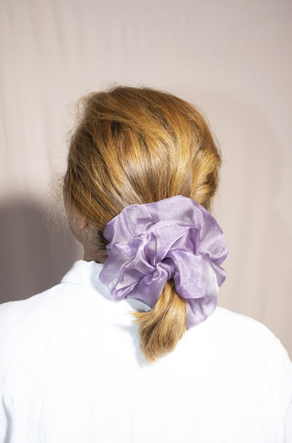 Mega Scrunchie - Structured Organza Lilac