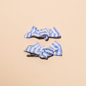 Sky Bow Hair Clips