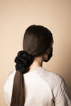 Oversized Scrunchie - Black Silk