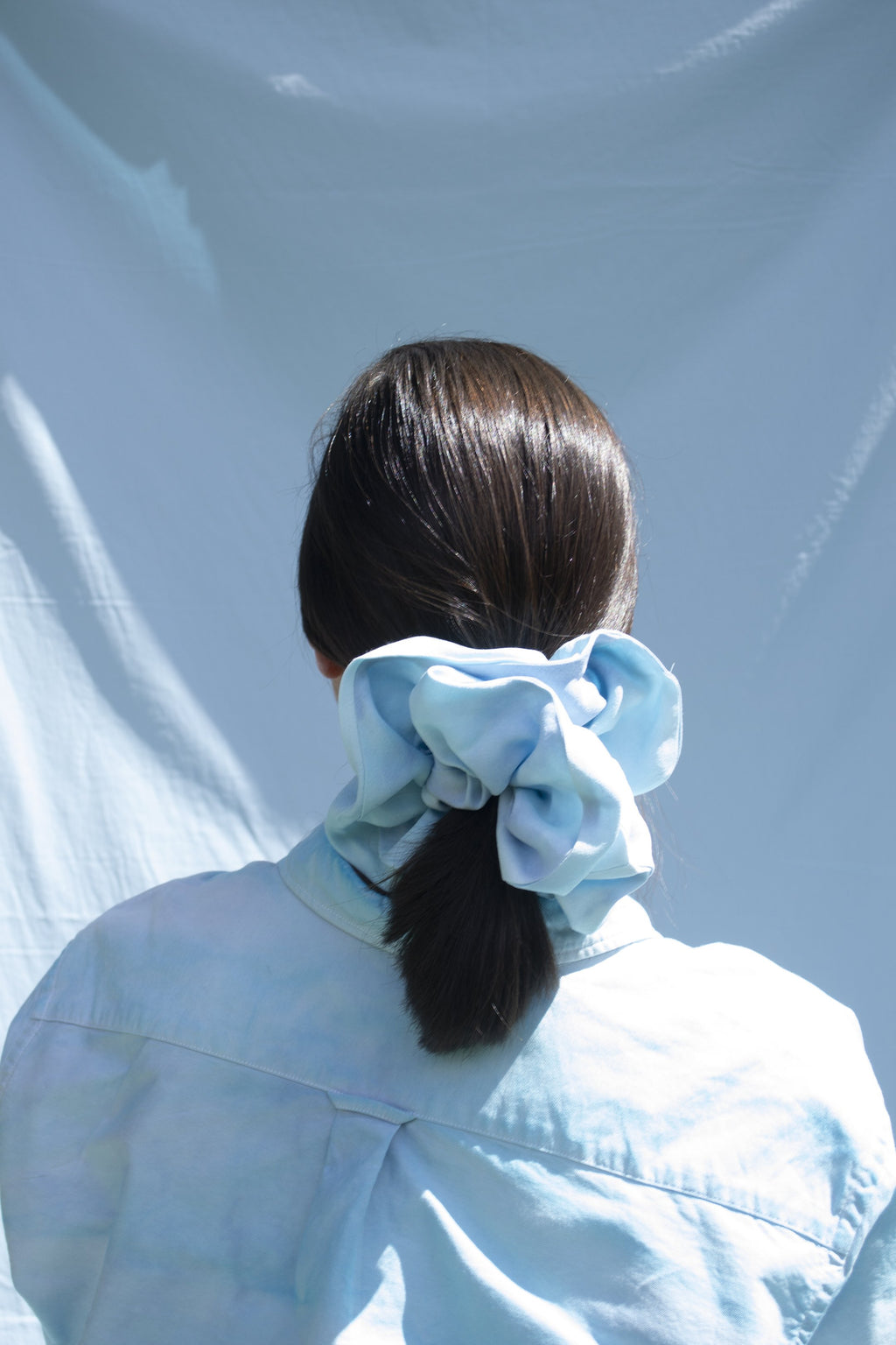 Mega Scrunchie - Light Blue Tie-Dye
