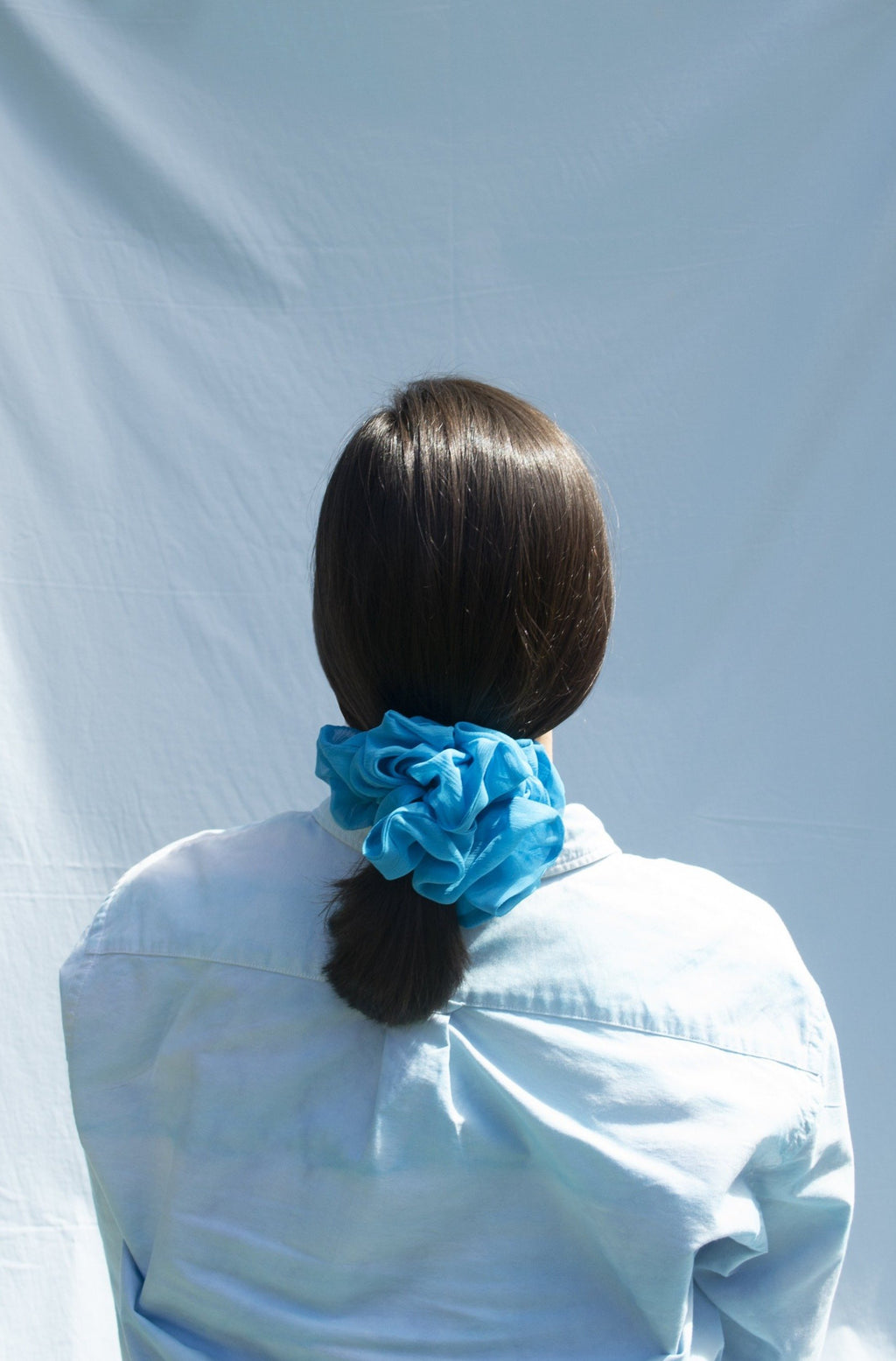 Mega Scrunchie - Volume Silk Cerulean