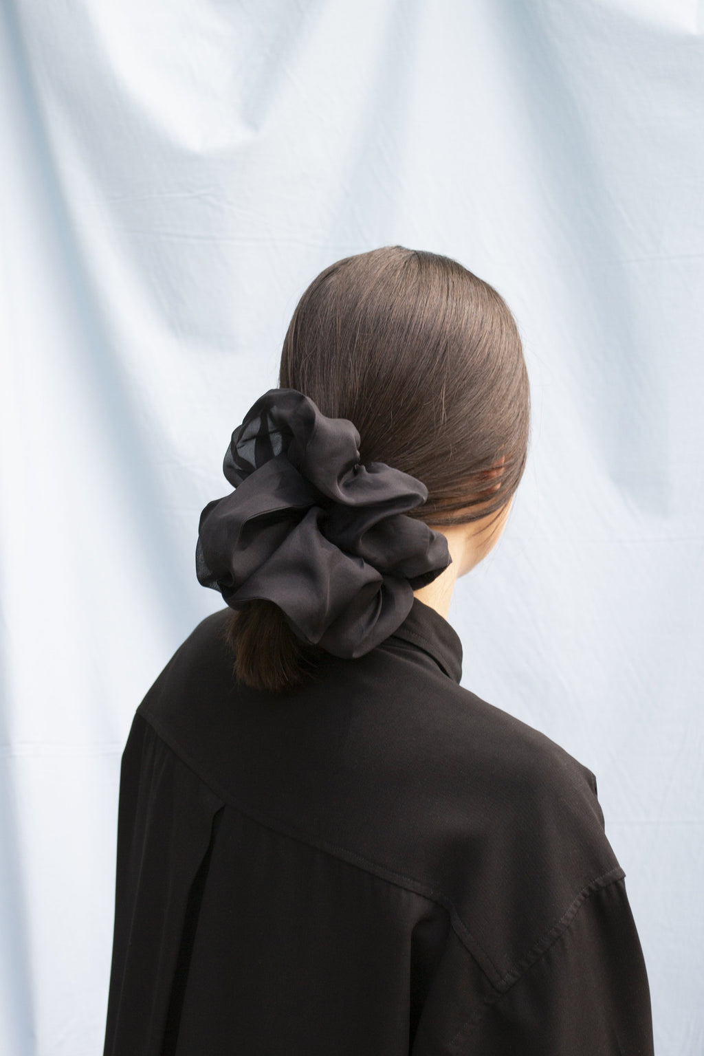 Mega Scrunchie - Structured Organza Black