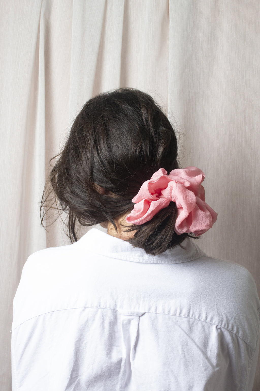 Mega Scrunchie - Volume Silk Creamy Pink