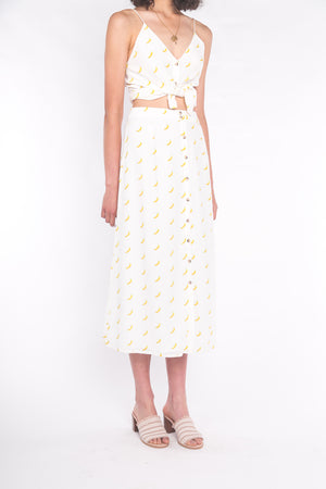 The Luna Maxi Skirt Banana Split