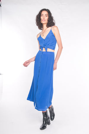The Luna Maxi Skirt Cobalt Blue