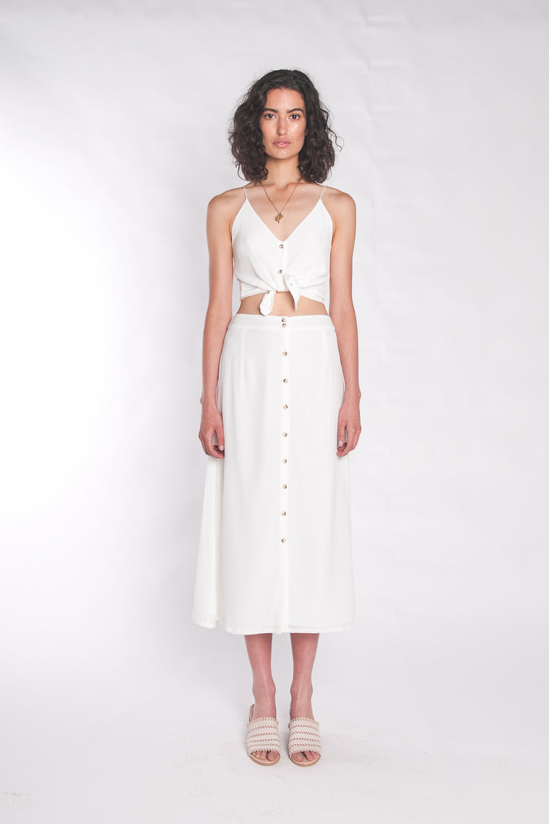 The Luna Maxi Skirt Coconut Milk