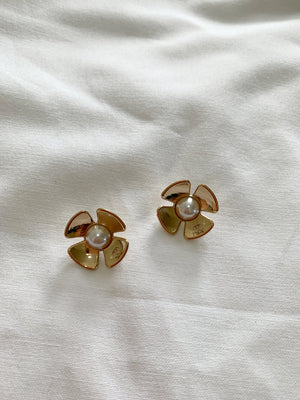 Vintage Chanel Flower Earrings