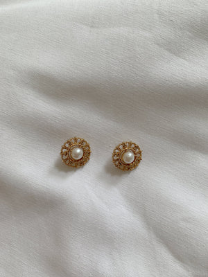 Vintage Chanel Dainty Pearl Earrings