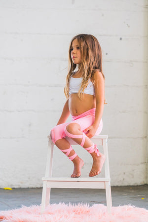 Flexi Dancer Leggings (Kids) - Coral Pink