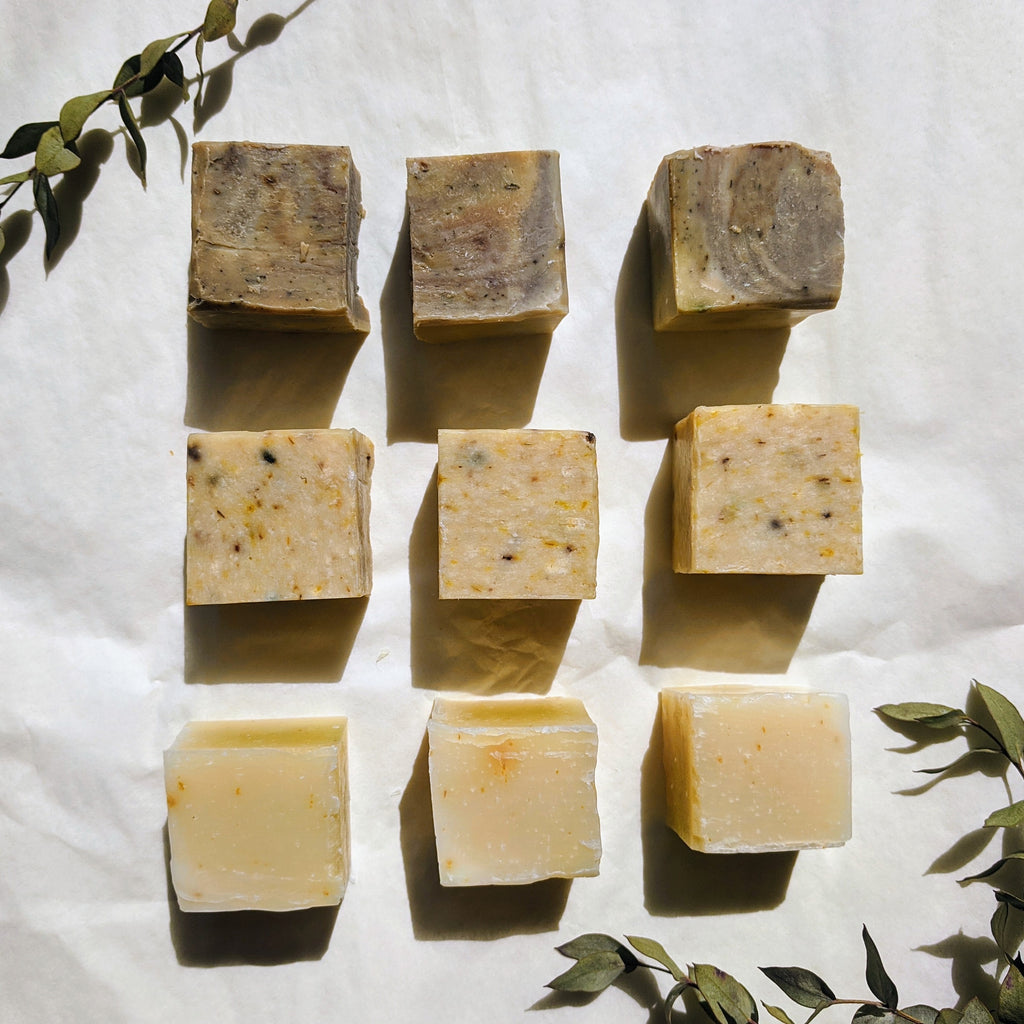 Mini Green & Gold Shampoo Bar (vegan)