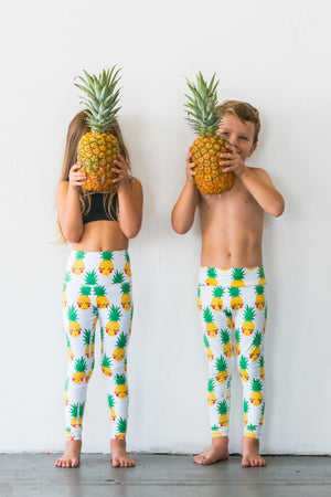 Flexi Tights (Kids) - Pineapples