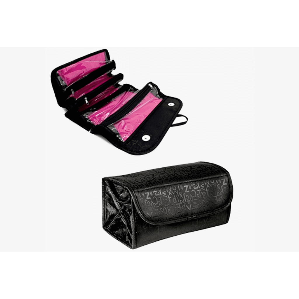 Roll 'n' Go Travel Cosmetic Bag - Black or Red (Shipped From USA)