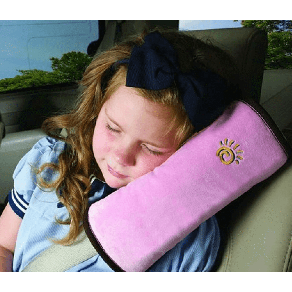 Kids' Car Seat Belt Shoulder Support and Headrest Safety Cushion